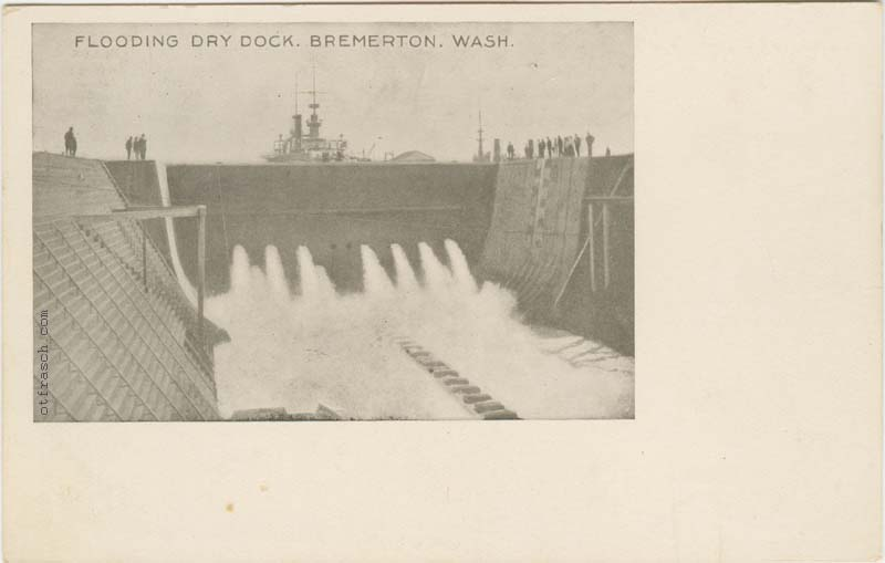copy B of Flooding Dry Dock at Puget Sound Navy Yard