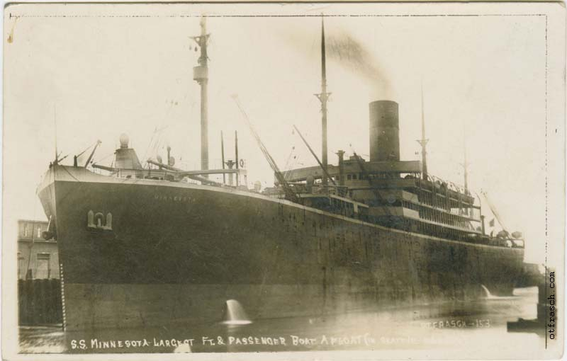 O. T. Frasch Image 153 - S.S. Minnesota Largest Ft. and Passenger Boat Afloat