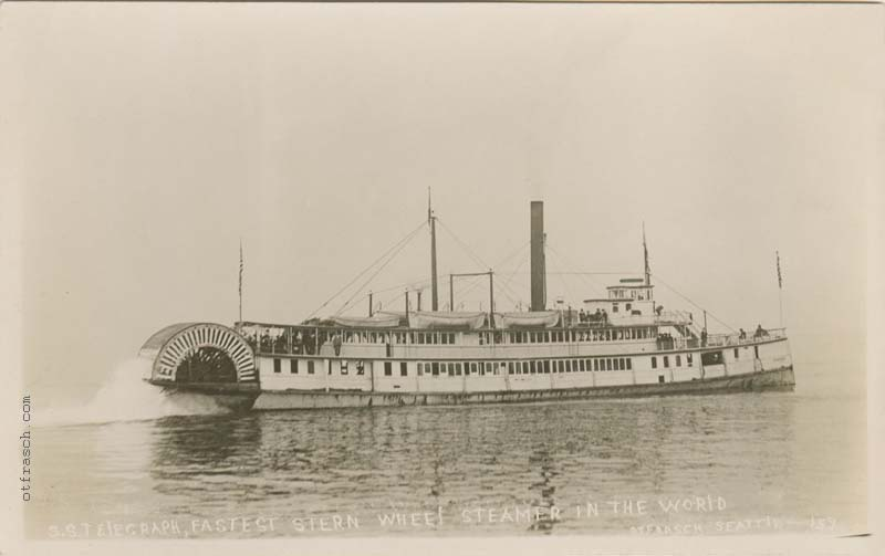 O. T. Frasch Image 159 - S. S. Telegraph, Fastest Stern Wheel Steamer in the World