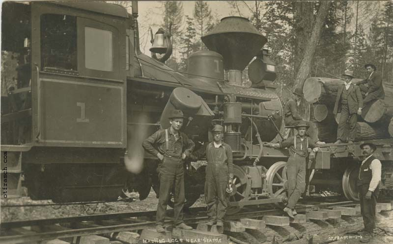O. T. Frasch Image 16 - Hauling Logs Near Seattle