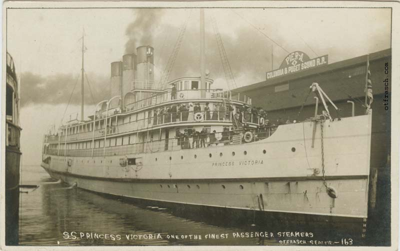 O. T. Frasch Image 163 - S.S. Princess Victoria One of the Finest Passenger Steamers