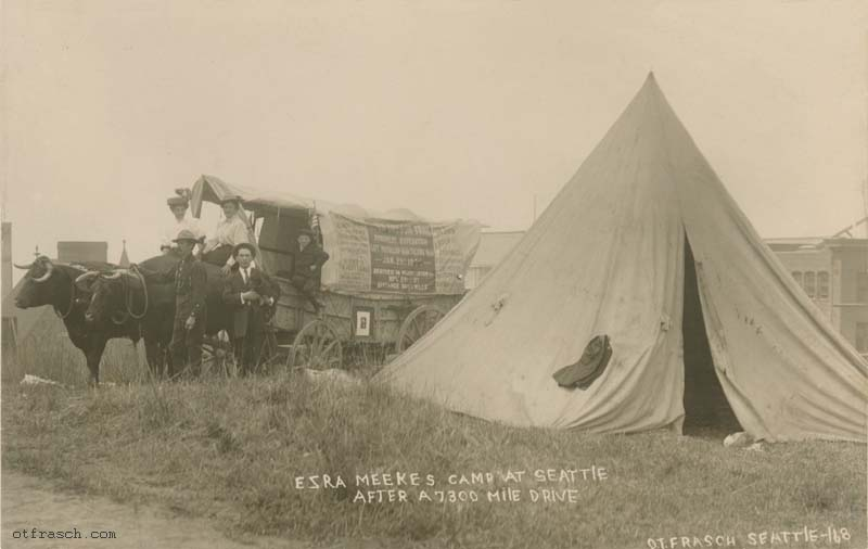 O. T. Frasch Image 168 - Ezra Meekes Camp at Seattle After a 7300 Mile Drive