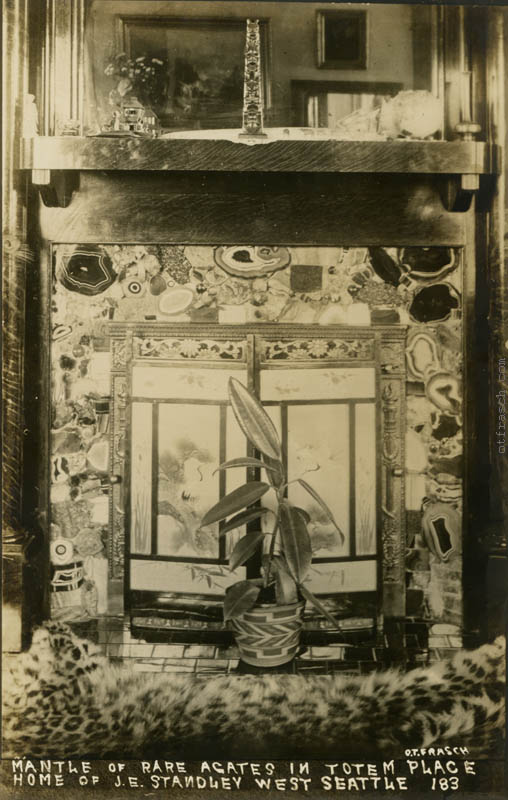 Image 183 - Mantle of Rare Agates in Totem Place Home of J.E. Standley West Seattle