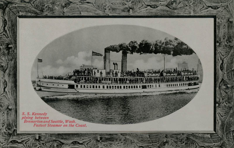 Copy of Image 188 - S.S. Kennedy on run from Seattle to Bremerton, fastest steamer on the coast