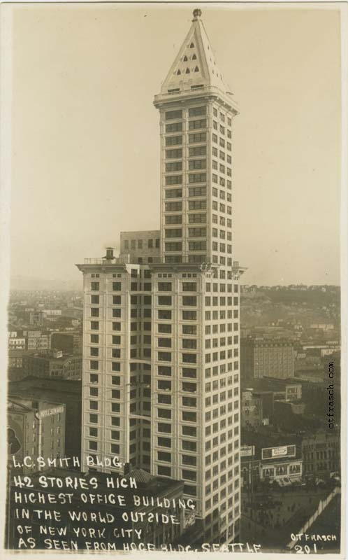O. T. Frasch Image 201 - L.C. Smith Bldg. 42 Stories High