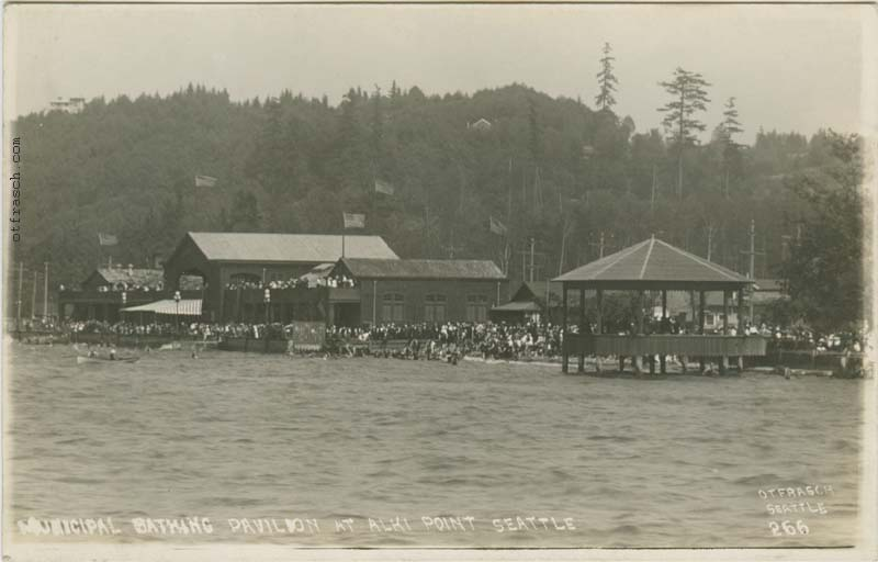 O. T. Frasch Image 266 - Municipal Bathing Pavilion at Alki Point Seattle