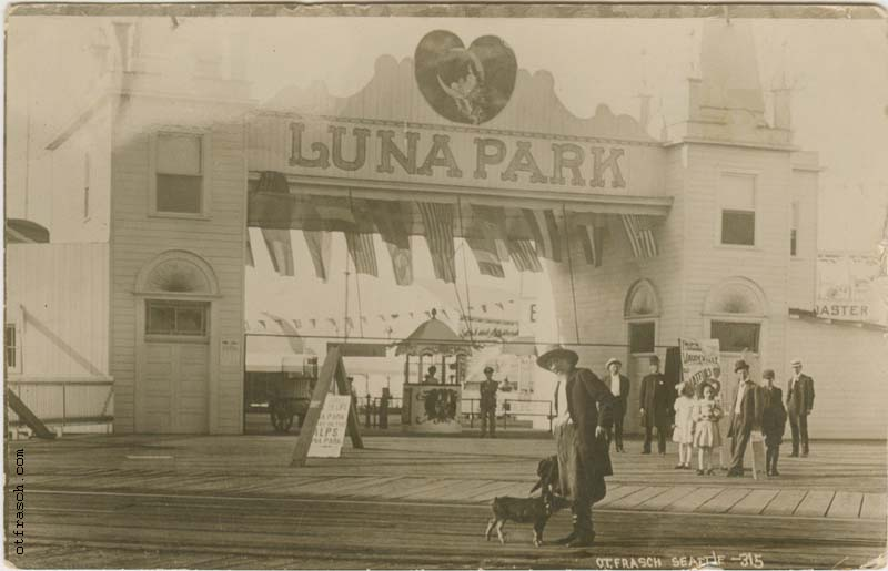 O. T. Frasch Image 315 - Entrance to Luna Park Seattle