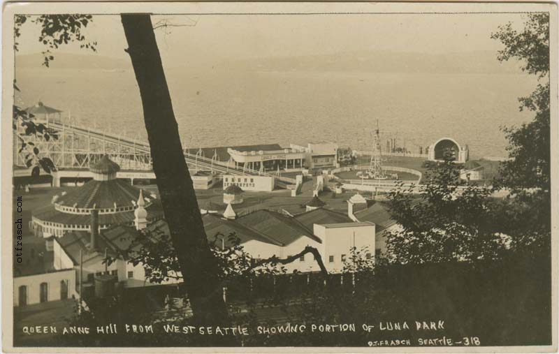 O. T. Frasch Image 318 - Queen Anne Hill from West Seattle Showing Portion of Luna Park