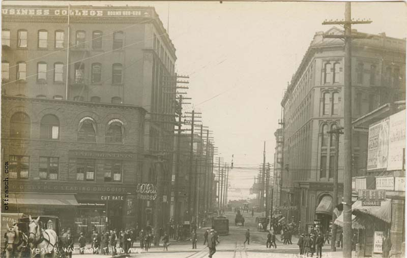 O. T. Frasch Image 34 - Yesler Way from Third Ave.