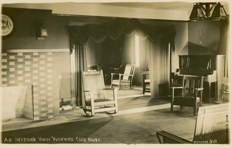 O. T. Frasch Image 360 - An Interior View Pickwick Club House