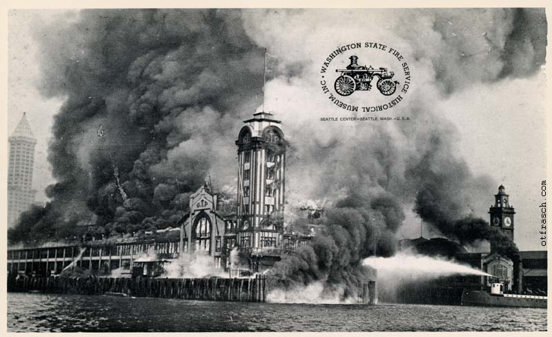 copy of O. T. Frasch Image 374 - G.T. Dock Fire Seattle Waterfront