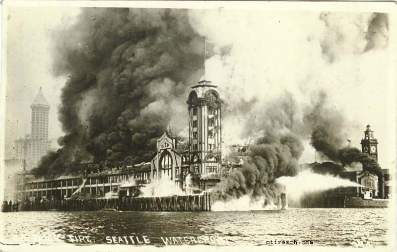 O. T. Frasch Image 374 - G.T. Dock Fire Seattle Waterfront