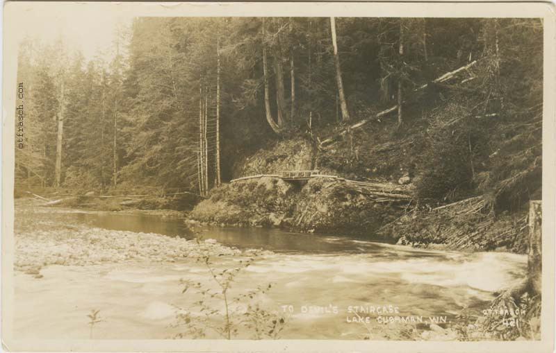 O. T. Frasch Image 421 - To Devils Staircase Lake Cushman Wn