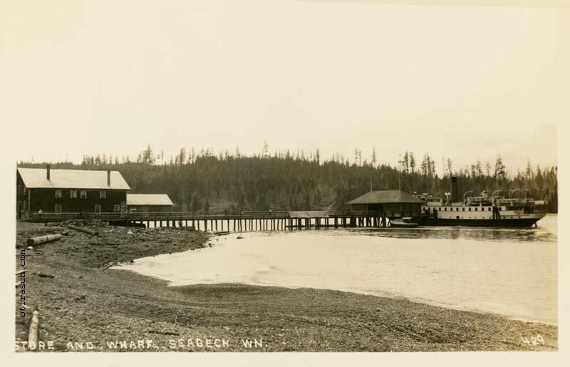 O. T. Frasch Image 429 - Store and Wharf, Seabeck Wn.