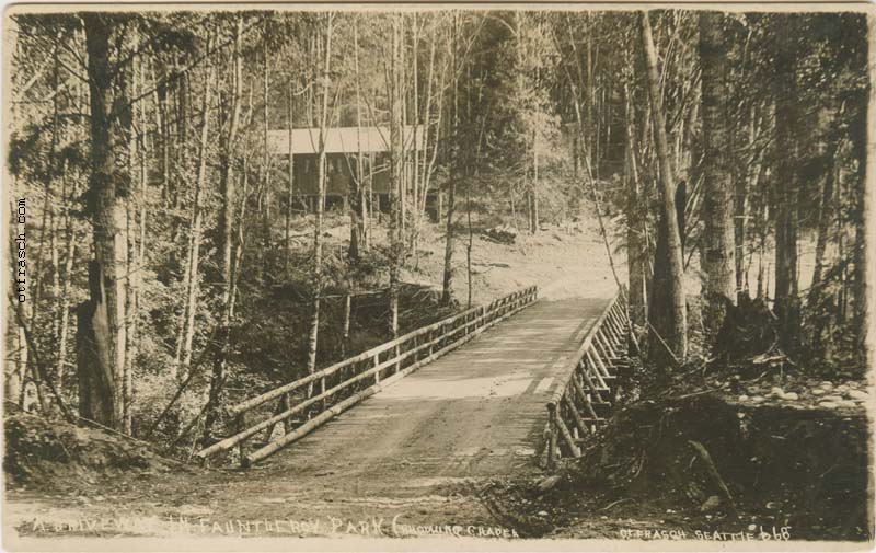 O. T. Frasch Image 668 - A Driveway in Fauntleroy Park (Showing Chapel)