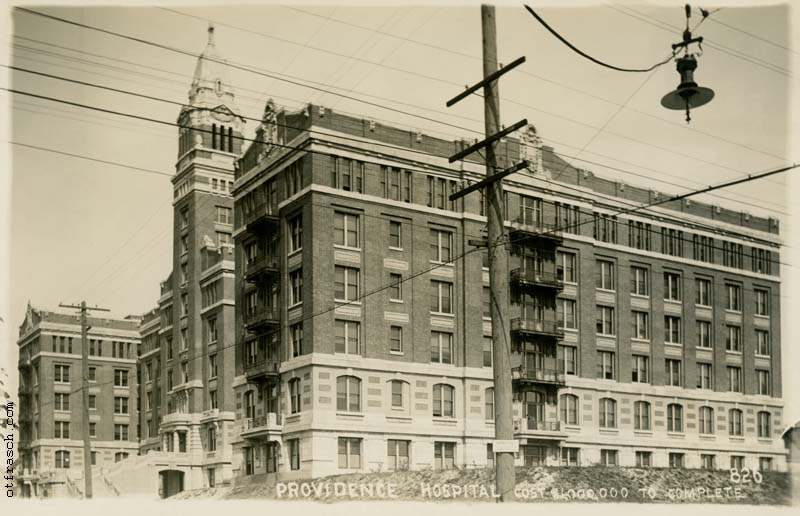 O. T. Frasch Image 826 - Providence Hospital Cost $1,000,000 to Complete