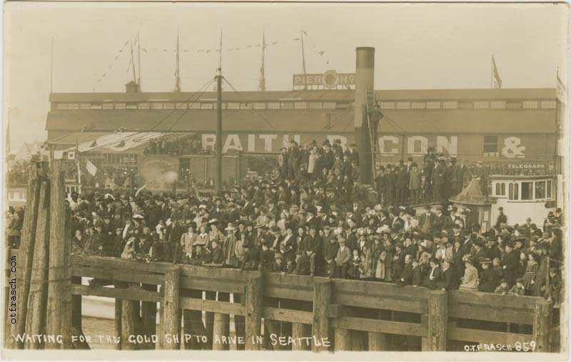 O. T. Frasch Image 859 - Waiting for the Gold Ship to Arive in Seattle