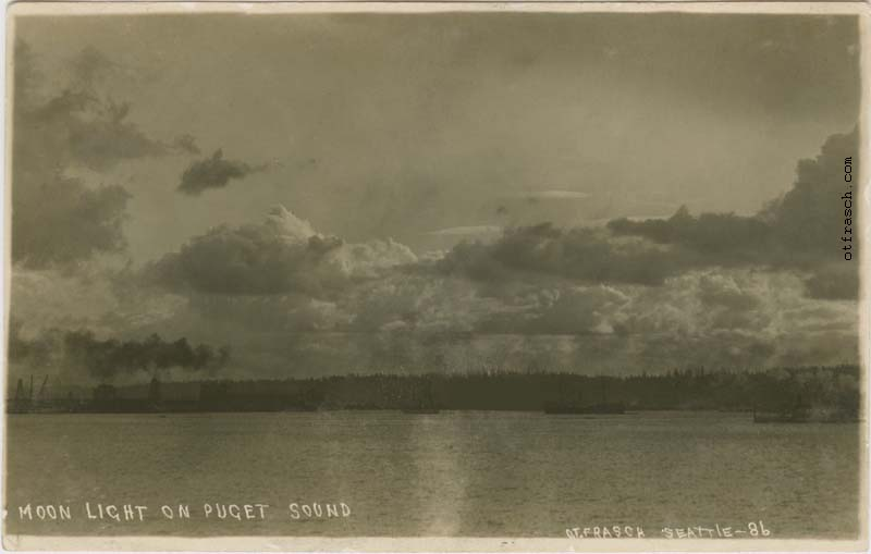 O. T. Frasch Image 86 - Moon Light on Puget Sound