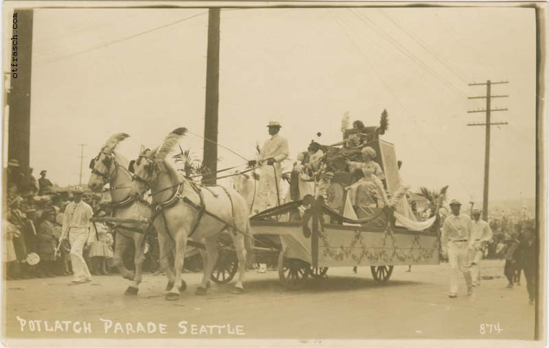 O. T. Frasch Image 874 - Potlatch Parade Seattle