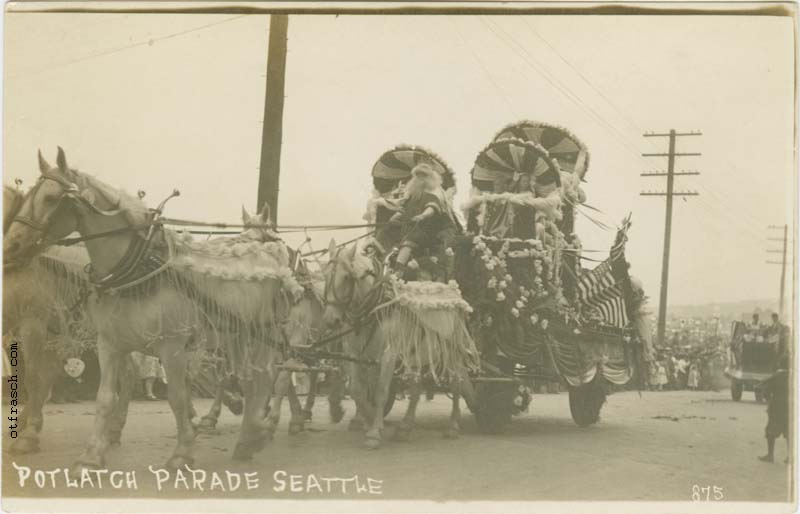 O. T. Frasch Image 875 - Potlatch Parade Seattle