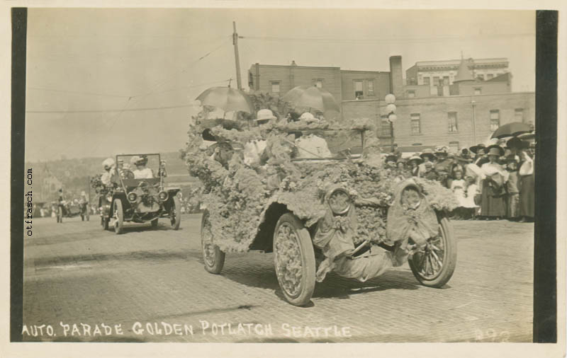 O. T. Frasch Image 893 - Auto Parade Golden Potlatch Seattle