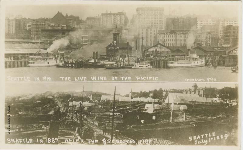 O. T. Frasch Image 992 - Seattle in 1912 - The Live Wire of the Pacific