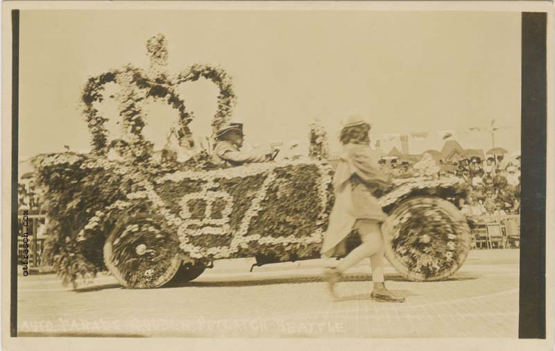 Unnumbered O. T. Frasch Image - Auto Parade Golden Potlatch - showing King's Car
