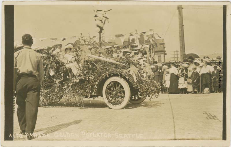 Unnumbered O. T. Frasch Image - Auto Parade Golden Potlatch Seattle