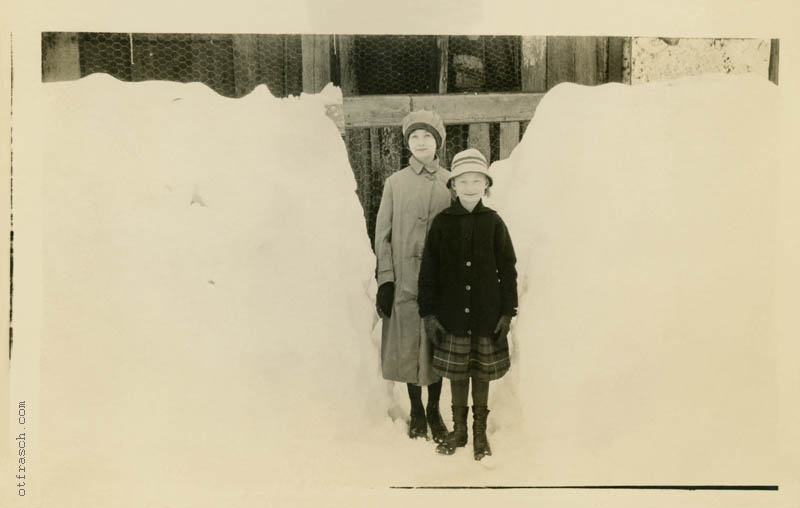 Unnumbered Image - Girls in Snow Drift