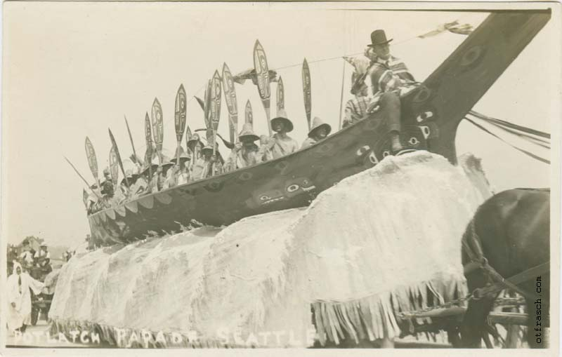 Unnumbered O. T. Frasch Image - Potlatch Parade Seattle (canoe)