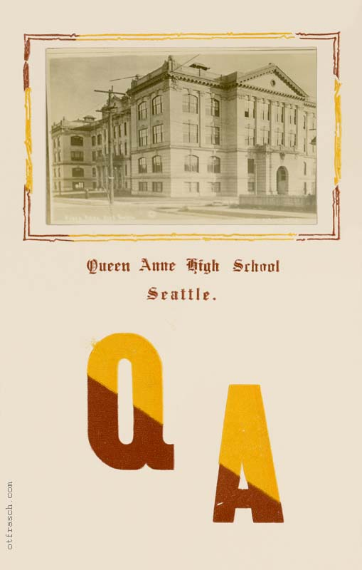 unnumbered O. T. Frasch Image - Queen Anne High School inset