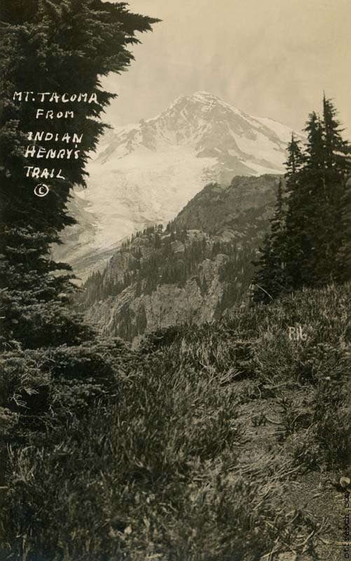 copy of O. T. Frasch Image R16 - Mt. Tacoma from Indian Henrys Trail