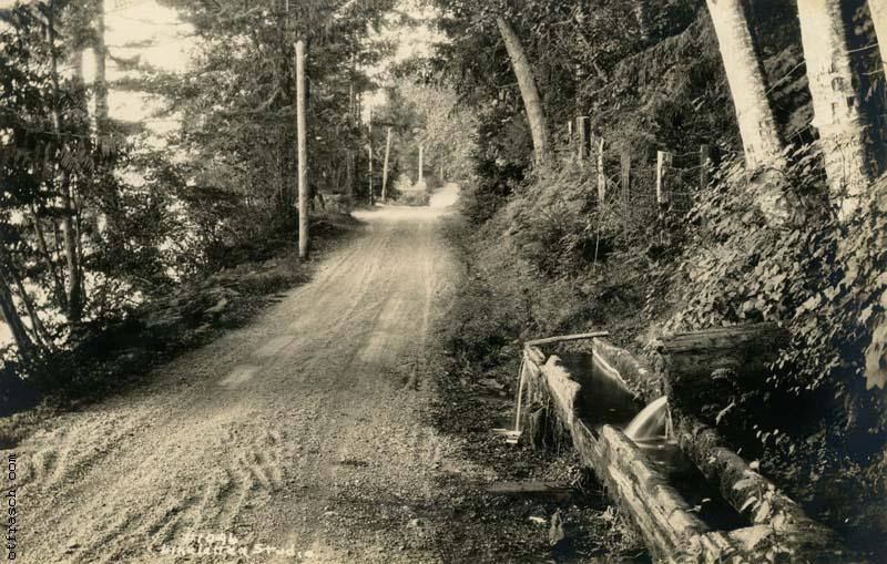 Linkletter 1946 - Road Near Old Water Trough Seabeck Wn.