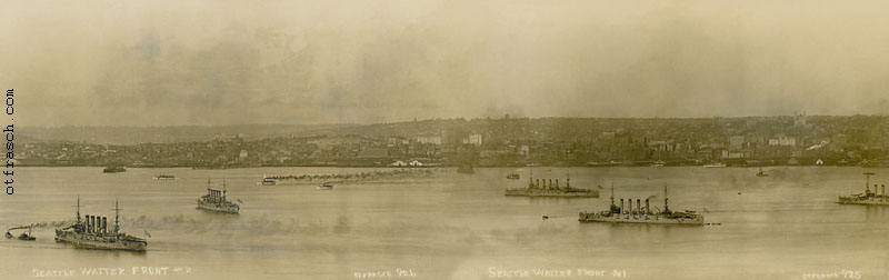 O. T. Frasch Image - Seattle Water Front Panorama