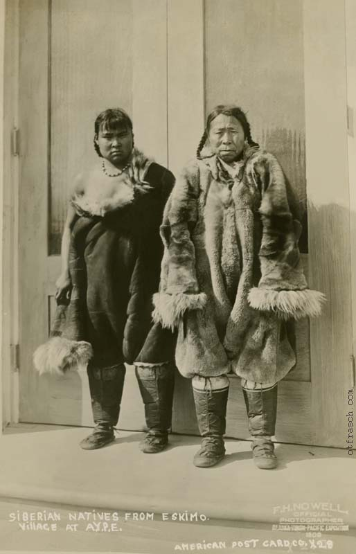 O. T. Frasch Image X28 - Siberian Natives from Eskimo Village at A.Y.P.E.