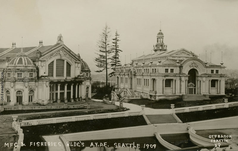 Image X9 - Mfg. & Fisheries Bldg's A.Y.P.E. Seattle 1909
